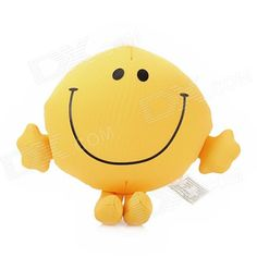 """Brand: N/A; Model: WLSHLP01; Quantity: 1 piece(s) per pack; Color: Yellow; Material: Foam particles + cloth; Filler: Foam particles; Specification: 4.5"""" smiling face style; Can be used as decoration on car or bedroom; Packing List: 1 x Toy; http://j.mp/1naN7fq"""
