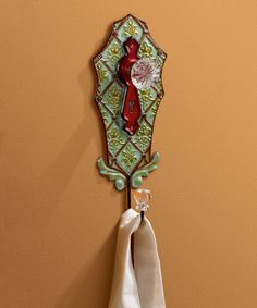 Loving this Green & Red Pressed Tin Wall Hook on #zulily! #zulilyfinds