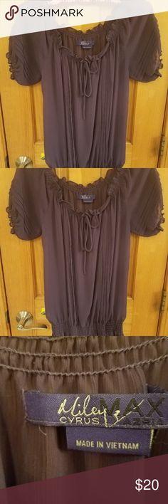 Miley Cyrus Purple Blouse M Miley Cyrus Purple Blouse M. No tags but never worn. Miley Cyrus & Max Azria Tops Blouses