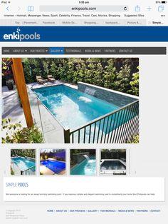 Pool area, fence colour & trees