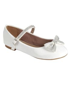 Take a look at this Link White Rhinestone Bow Gloria Mary Jane today!