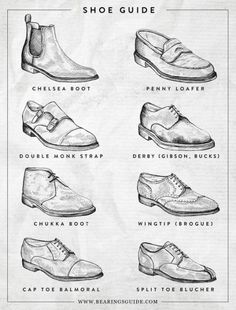 guide // menswear, shoes, infographic, style, mens fashion