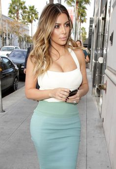 kim kardashian blonde ombre - Google Search