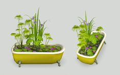 Mod The Sims - Waterlily Tub Water Plants, Water Lilies, Water Features, The Expanse, Tub, Planter Pots, Sims 2, Water Sources, Bathtubs