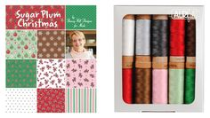 #ModaMonday! Are you a holiday sewing/quilting planner? Anne Sutton of Bunny Hill Designsl released a super sweet collection called #SugarPlumChristmas and it's shipping to stores now! The Moda Fabrics United Notions collection features fabric colors like Candy Cane Red, Sugar Plum Pink, Icicle White, Gingerbread Brown, Gumdrop Green and Mouse Grey. It is shipping to stores now! Anne's coordinating thread kit is a small, 10-spool collection of Aurifil's new 80wt + 3 spools of #Aurifloss both…