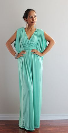 Mint Maxi Dress - Funky Kimono Butterfly Tube Dress : Elegant Collection on Etsy, $58.00