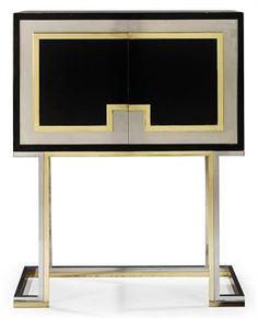 A MAISON JANSEN CABINET ON STAND  CIRCA 1970