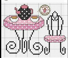 This Pin was discovered by Ebr Cross Stitch Kitchen, Cross Stitch Bird, Cross Stitch Charts, Cross Stitch Designs, Cross Stitching, Cross Stitch Embroidery, Cross Stitch Patterns, Pixel Art, Needlepoint Designs