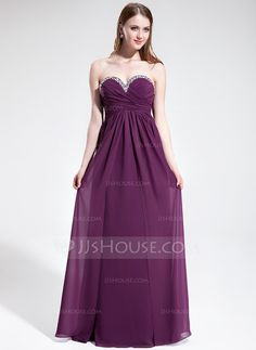 Prom Dresses - $132.99 - Empire Sweetheart Floor-Length Chiffon Prom Dress With Ruffle Beading (018025602) http://jjshouse.com/Empire-Sweetheart-Floor-Length-Chiffon-Prom-Dress-With-Ruffle-Beading-018025602-g25602