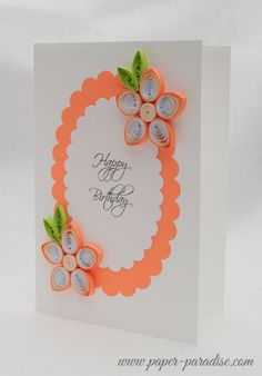 Birthday Card Quilling Flowers