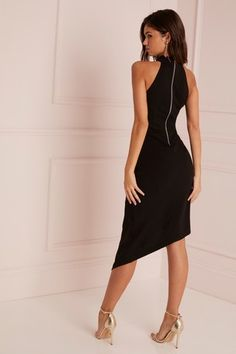 f54155693dc Womens Lipsy Scallop Long Sleeve Dress - Black in 2019