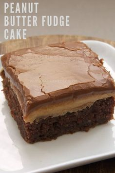PEANUT BUTTER FUDGE CAKE - kieganson recipes