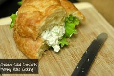 Dill Chicken Salad Croissants (Great for Mother's Day Brunch/Lunch)