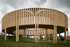 The versatile use of in has no Today we present this circular wooden walkway go exhibit contemporary art. A wooden structure by Aeneas Wilder Gropius Bau, Wooden Pavilion, Wooden Walkways, Pavilion Design, Castle In The Sky, Dezeen, Parks And Recreation, Rustic Kitchen, Interior Design Kitchen