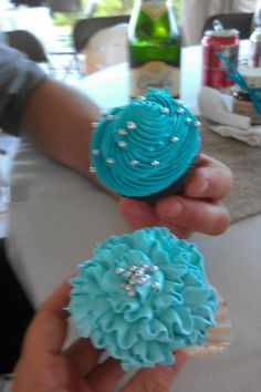Our cupcake cake was a nice touch for friend and family to grab and go have fun.