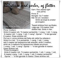Mønster teppe med fletter