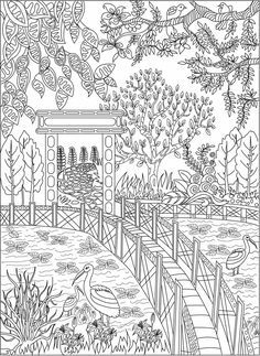 Adult Coloring (Doodles) on Behance Garden Coloring Pages, Coloring Book Pages, Doodle Coloring, Adult Coloring, Illustrations, Illustration Art, Digital Drawing, Mandala, Doodle Books