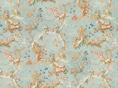 Chinese Landscape Cotton Print Sky Blue by Brunschwig & Fils Wallpaper Size, Fabric Wallpaper, Chinese Wallpaper, Pose, Chinese Landscape, Traditional Fabric, Fabric Houses, Asian, Tapestry Weaving