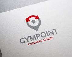 Logo Design - Gym Point Locator Logo                                                                                                                                                                                 More
