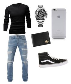 """Untitled #12"" by itsashleyh on Polyvore featuring 3x1, wizikorea, Vans, Rolex, Gucci, Native Union, men's fashion and menswear"