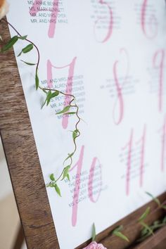 wedding seating chart idea; photo: Hunter Ryan Photo