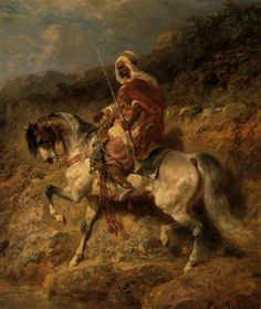 images of arab paintings   An Arab Horseman on the March :: Adolf Schreyer - Horses in art ...