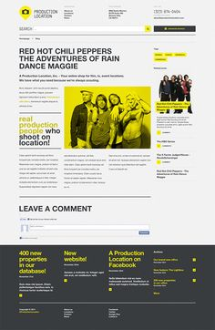 Production Location is a great search engine and database of locations for movies and TV shows made together with Jesse Rosenfield. I was responsible for the user interface design, which included the homepage and several internal pages. Jesse's work was to code it to be responsive and work on different devices and platforms