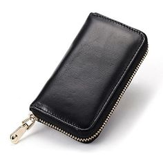 a2ff29c26063f Designer Brand Premium Leather Unisex Universal Zipper Key Wallets Wallet  Chain