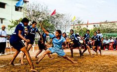 Kabaddi is a game like tag with a twist; a typical game played in by kids in India (and other countries) played for over 4000 years. Learn how and see videos of the world championships.