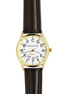 Looking for musicall themed watches for your wrist or home? If you are in need of Circle of Fifths watches and want to go with the best, try chromaticwatch.com which has been selling such pieces for long now.