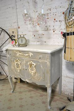 Painted Cottage Chic Shabby Romantic French Buffet