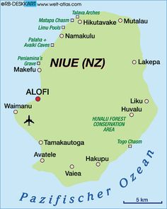 Niue Map Map Of Niue New Zealand Map In The Atlas Of The - Niue map