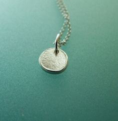 Tiny Pebble Necklace  Sterling Silver by esdesigns on Etsy