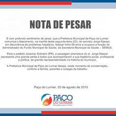 >: LUTO: Prefeitura de Paço do Lumiar perde dedicado ...