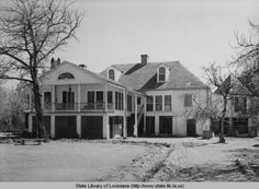 Melrose plantation home in Natchitoches Louisiana in 1940 :: State Library of Louisiana Historic Photograph Collection