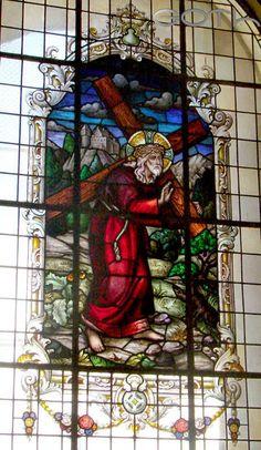 Vitral Jesús cargando la cruz, Basílica de los Ángeles, Cartago, Costa Rica