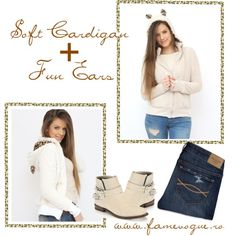 """""""Soft Cardigan With Ears"""" by famevogue on Polyvore..check out this fun piece you can incorporate into your casual outfits....:)  #cardigan #sweater #fashion #trends #casual Sweater Fashion, Ears, Casual Outfits, Outfit Ideas, Check, Sweaters, Polyvore, Fun, Fashion Trends"""