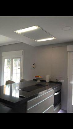 Diseño de #cocina con campana de techo Pando E-217
