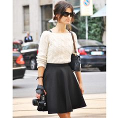 Street Chic - Milan Fashion Week - Discover More Street Style at ELLE.comelle.com
