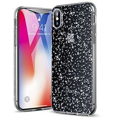 ESR Clear Case with Silver Bling Glitter @ November 02 2019 at Iphone Deals, Iphone 10, Iphone 8 Plus, Apple Iphone, Iphone Case, Glitter Phone Cases, Iphone Hacks, Gold Box, Black Glitter