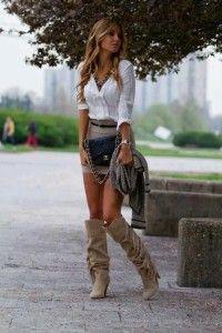 f107c08fe32fe1 Blazer  Miss Selfridge Blouse  BCBG Max Azria Skirt  BCBG Max Azria Belt   Elisabetta Franchi Bag  Chanel limited addition Boots  Karen Millen suede  boots ...