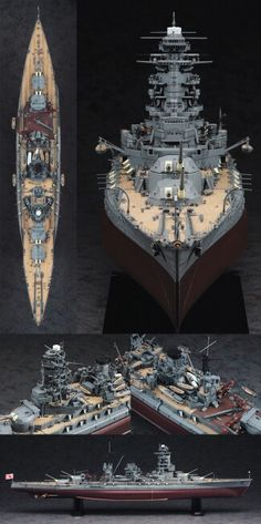 IJN Nagato-class battleship 'Nagato' 長門 1/350 Scale Model