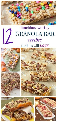 12 Lunchbox-Worthy Granola Bar Recipes the Kids Will LOVE - from school lunch to road trip snacks, these granola bars are perfect to make and bring along when you are on-the-go!