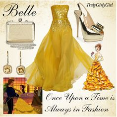 """Disney Style: Belle (Disney Princess Designer Collection)"" by trulygirlygirl on Polyvore"