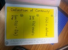 Continuity foldable for AP Calculus + other free calculus resources on this blog!