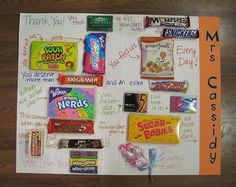 giant candy thank you card