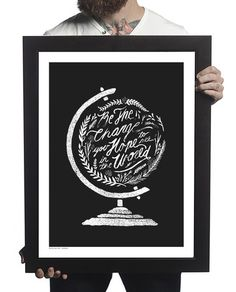 """Be The Change Print.  When we make positive changes in ourselves, the world around us is positively impacted. Hang this beautiful print to remind yourself that you don't need to wait for what others will do- the choice for change is yours! 18"""" x 24"""" Frame not included.  #Sevenly + Mercy Ships #ShopForACause #GiveBack ❤️"""