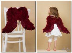 Anjelské krídla veľké na ramená, červené