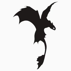 Toothless Silhouette - Plain