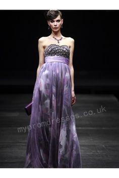 Venus Purple-print strapless sweetheart floor-length evening dress B0BYJ  http://www.mydresspro.co.uk/17-evening-dresses?p=4